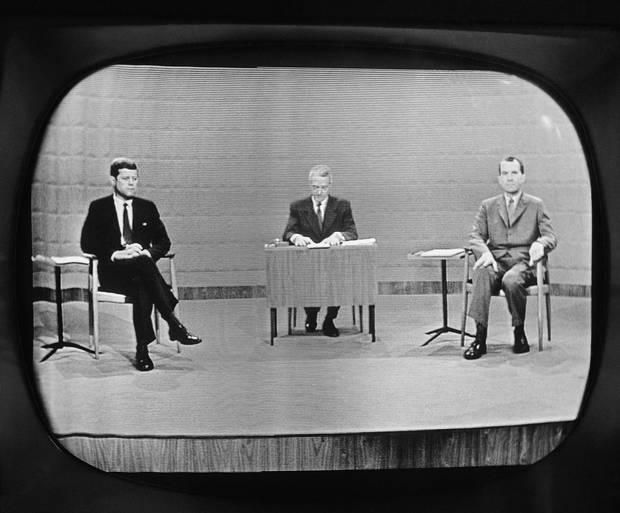 The first ever televised presidential debate takes place on Sept. 26, 1960, in Chicago. Exactly 56 years after the historic Richard Nixon-John F. Kennedy encounter, Hillary Clinton and Donald Trump take the stage.