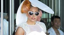 American pop singer Lady Gaga leaves a hotel in Hong Kong Tuesday, May 8, 2012. (AP)