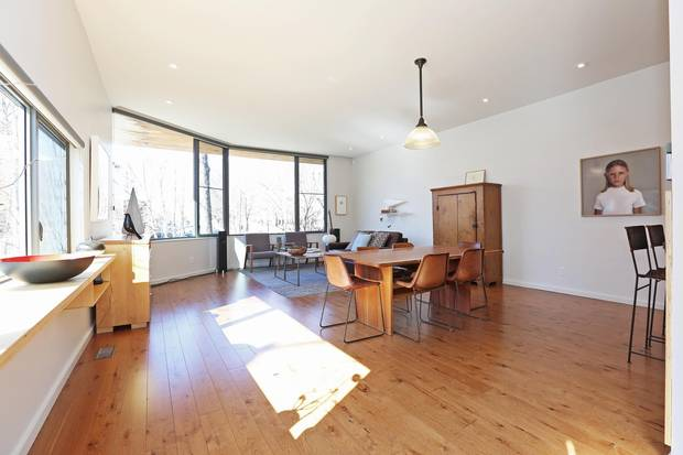 A living space at 38 Hugo Ave.
