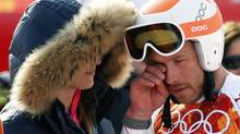 Viewers have slammed NBC's Christin Cooper for bringing the U.S. bronze medal-winning alpine skier Bode Miller to tears with questions about his brother, who had died last April (MIKE SEGAR/REUTERS)