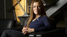 Olympian Clara Hughes is photographed in Toronto, Ont. Feb. 7/2012. (Kevin Van Paassen/The Globe and Mail)