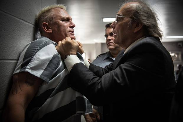 Daniel Craig and Dwight Yoakam in Logan Lucky, an Entertainment One release.