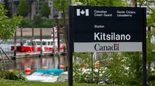 A Coast Guard vessel is seen moored at the Coast Guard's Kitsilano Station in Vancouver, B.C., on Friday May 18, 2012. The federal government is shutting down the station as part of budget cuts and is shifting the operations to another base on Sea Island in Richmond near Vancouver International Airport. (Darryl Dyck/The Canadian Press)