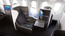 The premium Club World cabin on the Dreamliner has 35 pod-like seats that can be turned into flat beds.