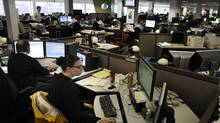 The Globe and Mail's Report on Business newsroom (Moe Doiron/The Globe and Mail)