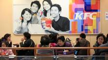 KFC restaurants in China saw a 16-per-cent drop in revenue for July, 2013. (ALY SONG/REUTERS)