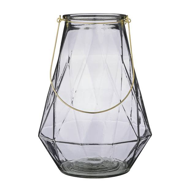 Glass lantern with gold handle by Bloomingville, $83 at Amara (www.amara.com).