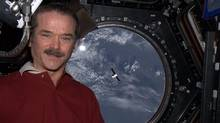 Chris Hadfield's self-portrait, taken in the space station's Cupola. (Chris Hadfield)