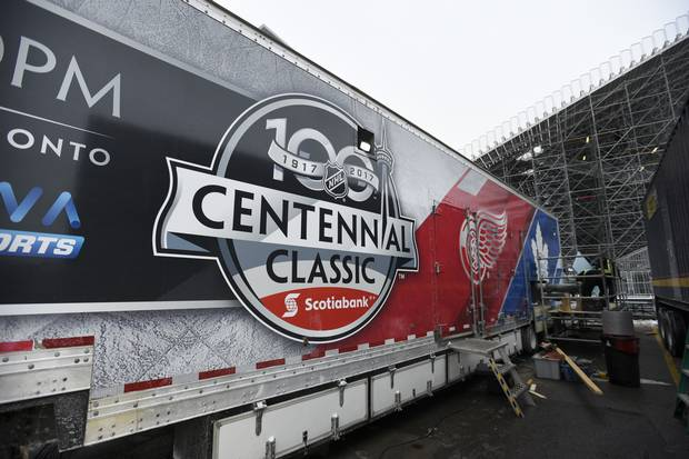 The NHL brought the world's biggest refrigeration truck to prepare BMO Field for the New Year's Day outdoor game.