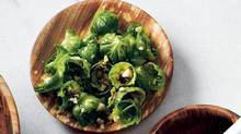 Blanched Brussels-sprout leaves with toasted hazel nuts (Michael Graydon for The Globe and Mail)