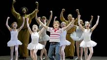"A triumphant scene from ""Billy Elliot"""