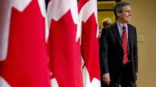 Liberal Leader Michael Ignatieff arrives for a news conference Sunday, April 24, 2011 in Toronto. (Paul Chiasson/Paul Chiasson/The Canadian Press)