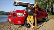 Les Stroud with his 2011 Dodge Ram. (Laura Bombier/The Globe and Mail)
