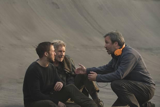 Director Denis Villeneuve, right.