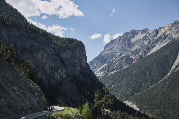 The trip is a massive undertaking: riding a 1,900-kilometre loop through the southern Alps, going over 100 mountain passes along the way.