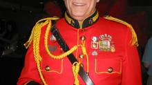 ted northe wore his medals, such as the Queen Elizabeth II Diamond Jubilee Medal, on a bright red military tunic.