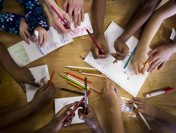Children at the Strathcona Community Centre take part in an after-school program in Vancouver.