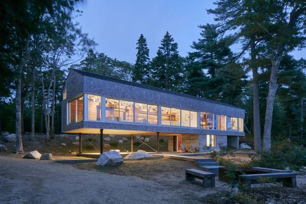 Mirror Point Cottage exemplifies the late-career of Halifax architect Brian MacKay-Lyons.