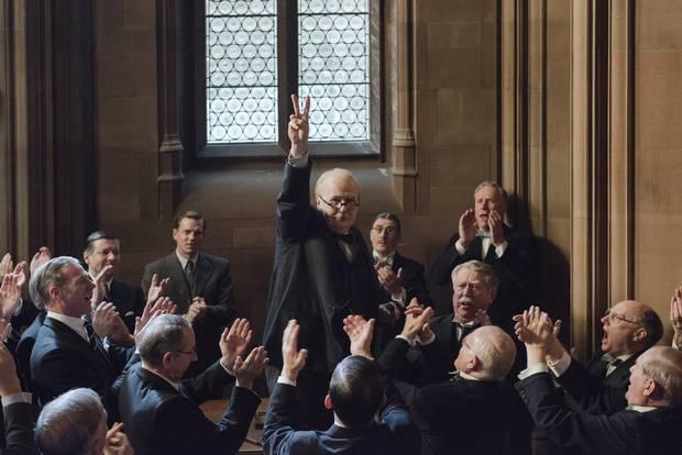 Gary Oldman portrays Winston Churchill in Darkest Hour.