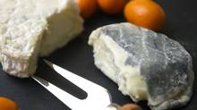 Misty and Moonlight goat cheese from Carmelis paired with kumquats . (Kevin Van Paassen/The Globe and Mail/Kevin Van Paassen/The Globe and Mail)