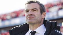 Toronto FC manager Ryan Nelsen looks on before his team's MLS match against the L.A. Galaxy in Toronto on Saturday March 30, 2013. After a six-win season in his first year of charge at Toronto FC, Nelsen says he knows the clock is ticking on his MLS watch. (Chris Young/THE CANADIAN PRESS)
