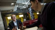 McDonald's Canada CEO John Betts, left, is one of the experts participating in the program. (KEVIN VAN PAASSEN/THE GLOBE AND MAIL)