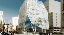 Artist's rendering of the plaza entrance to the Ryerson University Student Learning Centre. (Handout)
