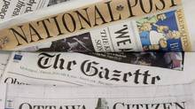 Revenue at Postmedia, the Toronto-based newspaper chain fell 10.8 per cent in the third quarter. (Adrian Wyld/THE CANADIAN PRESS)
