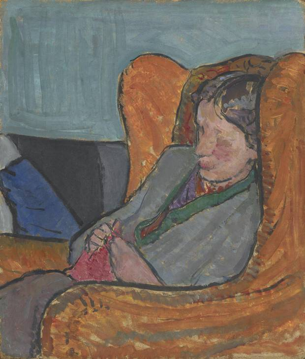 A portrait of Bell's sister, Virginia Woolf, c.1912.