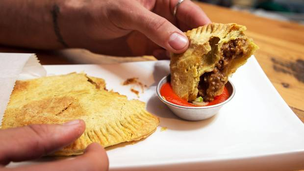 The venison Jamaican patty is seen at Antler in Toronto.