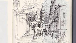Why I Prefer To Travel With A Sketchbook Instead Of Camera Sketch Scene Challenges Our Notions What Really Matters As We Move Through New City