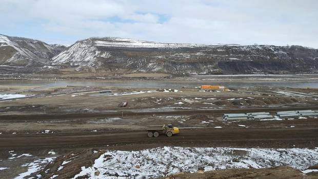 A photo of the Site C dam site taken Tuesday, April 18, 2017.