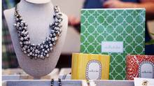 Jewellery is on display during an in-home jewellery party of Stella and Dot merchandise. (Della Rollins For The Globe and Mail/Della Rollins For The Globe and Mail)