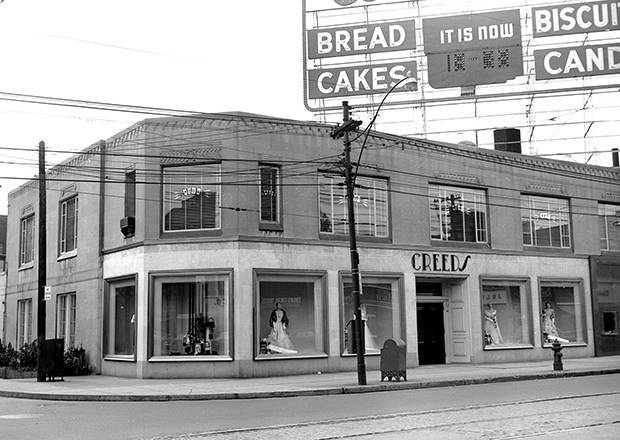 Bloor Street West (aka The Mink Mile) began catering to luxury shoppers when retailers such as Creeds opened on the strip.