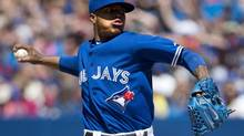 Toronto Blue Jays starting pitcher Marcus Stroman works against the Boston Red Sox during seventh inning AL baseball action in Toronto on Thursday, July 24, 2014. (Nathan Denette/THE CANADIAN PRESS)