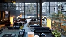 The Conservatorium in Amsterdam was designed by Milan-based Piero Lissoni and the look is chic and expensive. (AMIT_GERON)