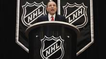 National Hockey League commissioner Gary Bettman announces the end of labor negotiations between the NHL and the NHL Players Association (NHLPA) in New York, January 9, 2013. (Reuters)