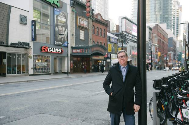 Mark Garner, executive director of the Downtown Yonge Business Improvement Association, on Toronto's Yonge Street, which is undergoing a revitalization.