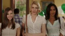 "Screen grab from the online trailer for the long-awaited new Whit Stillman movie, ""Damsels in Distress"""