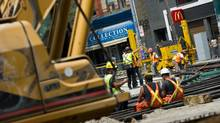 Construction workers experienced the largest percentage increase of the largest sectors over the year: Their average weekly earnings shot up 5.3 per cent to $1,133.09. (Galit Rodan/The Globe and Mail)