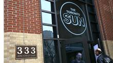 The offices of The Toronto Sun, part of the Sun Media newspaper chain. (Deborah Baic/The Globe and Mail)