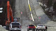 The Trans Mountain pipeline system, which runs from Edmonton to Burnaby, B.C., would be twinned to carry more crude. (KINDER MORGEN CANADA)