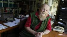 Farley Mowat, photographed in his Port Hope, Ont., home on October 13, 2010. Mr. Mowat died on Tuesday, May 6, 2014. He was 92. (Peter Power/Peter Power/The Globe and Mail)