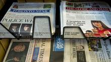 According to NADBank statistics, 59 per cent of readers only get their news from printed editions of the paper, and 78 per cent of those who visited a newspaper's website also read a printed copy at least once a week. (Nathan Denette/The Canadian Press)