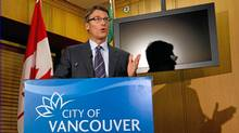 Vancouver Mayor Gregor Robertson responds to the report into the Stanley Cup Riot in Vancouver on Thursday Sept. 1, 2011. (Darryl Dyck/The Canadian Press/Darryl Dyck/The Canadian Press)