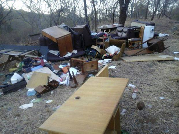 The McKinnon family's belongings were dragged from their home.