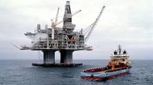 An oil platform offshore Newfoundland (PETRO-CANADA)