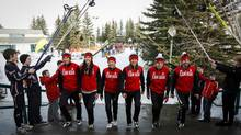 Canada's biathlon team will be seeking its first medal in 20 years next month, and its first ever by man. (Jeff McIntosh/THE CANADIAN PRESS)