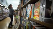 An Alice Munro book on the shelves at Munro's Books in Victoria. (John Lehmann/The Globe and Mail)