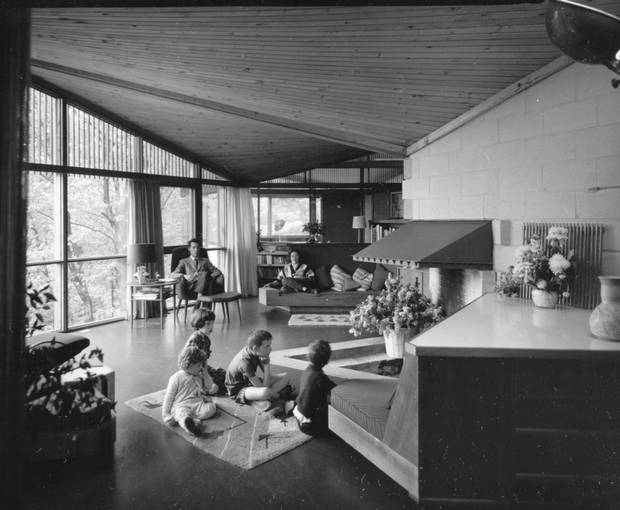 The Strutt Family in the house, 1960